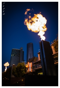 Southbank in Melbourne is a great place to go for drinks or dinner. However, once an hour a special photography opportunity arises. 5D Mark III | 24mm 1.4 Art.