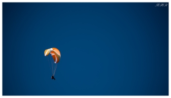 Perfect day for it. Paraglider above Schwangau, Bavaria. 5D Mark III   100-400mm f4.5-5.6L IS II.