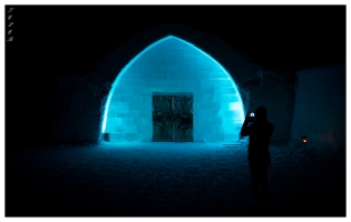 Ice Hotel Entrance | 5D Mark III | 16-35mm 2.8L