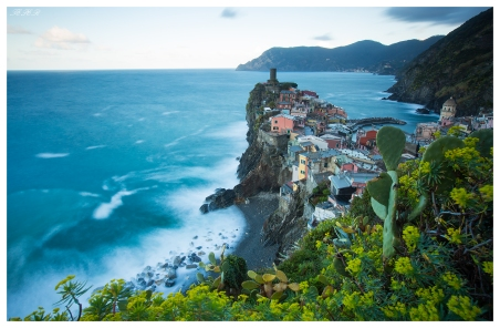 Early morning in Vernazza, Italy. I used a polariser and ND filters to allow a longer exposure. 5D Mark III | 16-35mm 2.8L II