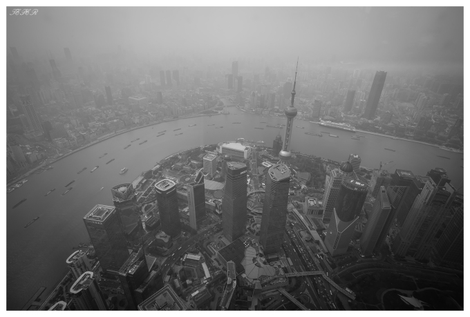 The view from Shanghai Tower, Shanghai. 5D Mark III   16-35mm 2.8L II