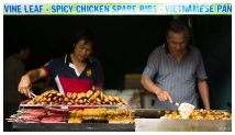 Street food at lunar new year