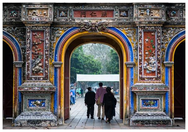 Hue Royal Palace City Gate. 5D Mark III | 85mm 1.4.