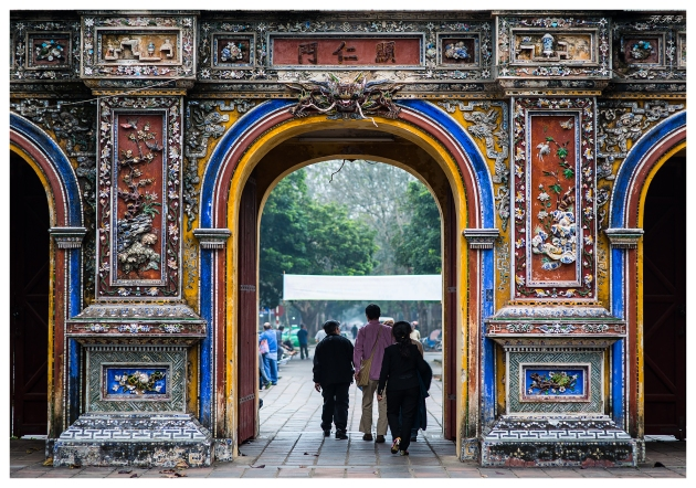 Hue Royal Palace City Gate. 5D Mark III   85mm 1.4.