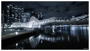 Webb Bridge at Night. 5D Mark III   16-35mm 2.8L II