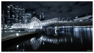 Webb Bridge at Night. 5D Mark III | 16-35mm 2.8L II