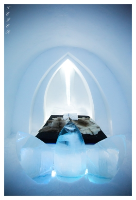 One of the spectacular rooms at the Ice Hotel | 5D Mark III | 16-35mm 2.8L II