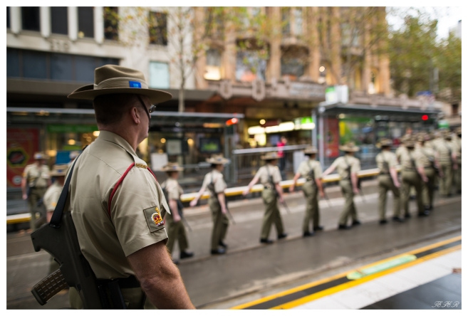 Anzac Day Drill Sargent watches the ranks, 5D Mark III   24mm 1.4 Art