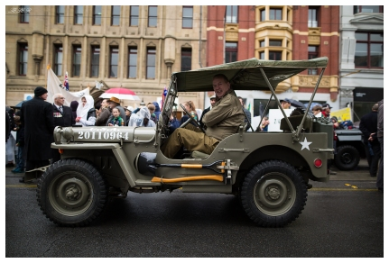 A Willies Jeep takes part on the parade. 5D Mark III   24mm 1.4 Art