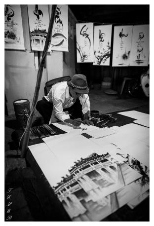 Local artist, Hoi An. 5D3   24mm 1.4 Art   f1.8   iso1600.