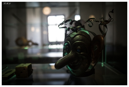 Scary mask at the fort museum. 5D Mark III   24mm 1.4 Art
