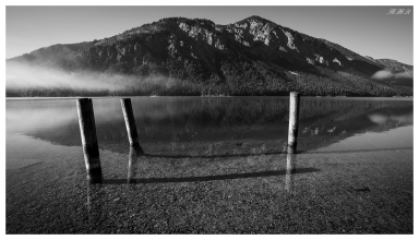 Early morning at Plansee, Austria