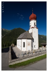 Beautiful mountain church on a bright summer day!