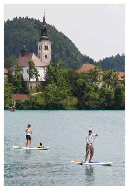 Paddle boarding on lake Bled. 5D Mark III | 135L