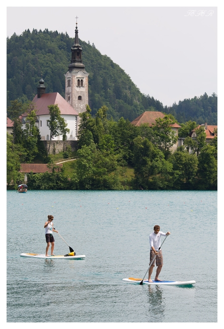 Paddle boarding on lake Bled. 5D Mark III   135L