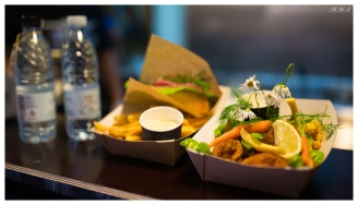 Fish and chips, paper island style. 5D Mark III   35mm 1.4 Art.