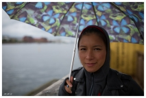 Vanessa less than impressed with the weather. Paper Island. 5D Mark III | 35mm 1.4 Art