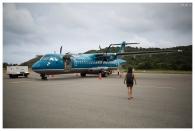 ATR-72 aircraft link Con Dao and Saigon. 5D Mark III | 35mm 1.4 Art