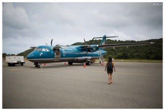 ATR-72 aircraft link Con Dao and Saigon. 5D Mark III | 35mm 1.4 Art