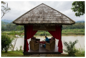 Good spot for lunch, Somewhere on the Mekong River, Laos. 5D Mark III   24mm 1.4 Art