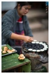 Very tastey coconut things, Luang Probang, Laos. 5D Mark III   85mm 1.2L II