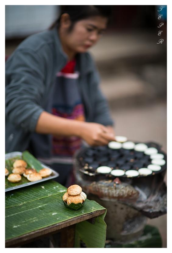 Very tastey coconut things, Luang Probang, Laos. 5D Mark III | 85mm 1.2L II