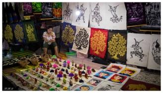 Checking out the night markets, Luang Prabang, Laos. 5D Mark III   35mm 1.4 Art