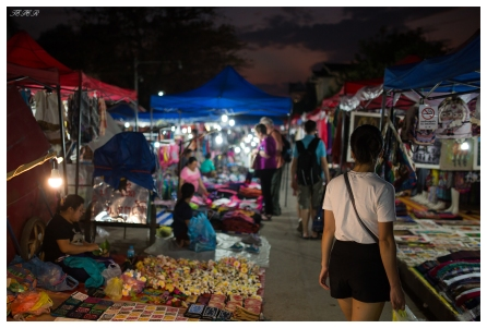 Checking out the night markets, Luang Prabang, Laos. 5D Mark III | 35mm 1.4 Art