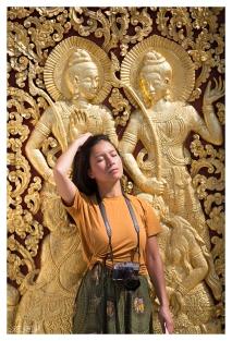 Getting into character. Luang Prabang, Laos. 5D Mark III   135mm 2L