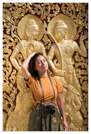 Getting into character. Luang Prabang, Laos. 5D Mark III | 135mm 2L