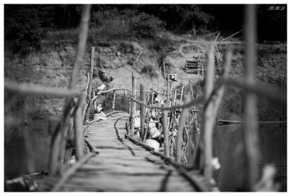 Wobbley Bridge II, Luang Prabang, Laos. 5D Mark III   135mm 2L