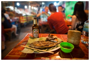 Dinner at the night markets. Laos. 5D Mark III | 24mm 1.4 Art