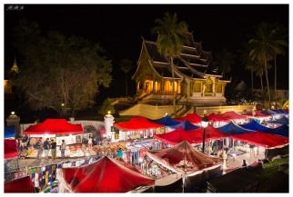 The famous Luang Prabang night markets. Laos. 5D Mark III | 24mm 1.4 Art