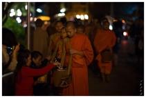 The feeding of the Monks. Luang Prabang, Laos 5D Mark III | 85mm 1.2L II | iso 3200