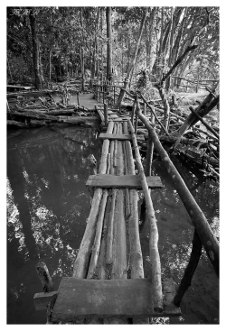 Wobbly Bridge, Kuang Si Falls, Laos. Canon G7X