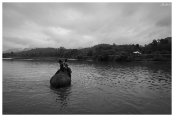 Somewhere on the Mekong River, Laos. Canon G7X