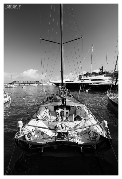 Checking out all the big boats in the Monaco Yacht Club. Canon 5D Mark III   18mm 2.8 Zeiss Milvus