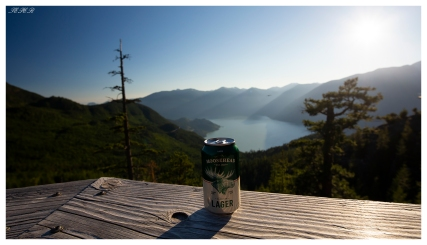 Enjoying a beer at the top, Canada style. Squamish, Canada. 5D Mark III | Zeiss 18mm 2.8 | Polariser