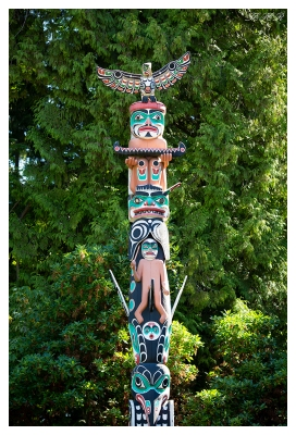 Totem Poles at Stanley Park. Vancouver, Canada. 5D Mark III   135mm f2L