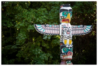 Totem Poles at Stanley Park. Vancouver, Canada. 5D Mark III | 135mm f2L