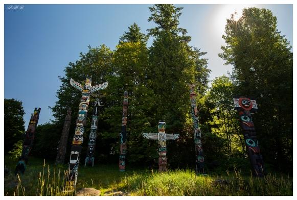 Totem Poles at Stanley Park. Vancouver, Canada. 5D Mark III   18mm 2.8 Carl Zeiss Milvus.