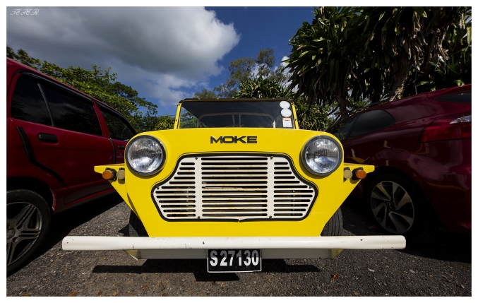Moke on our way to the harbour. Mahe, Seychelles. 5D Mark III | 12-24mm F4 Art