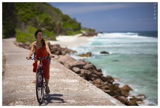 Best way to get around on La Digue, Seychelles. 5D Mark III | 85mm 1.2L II