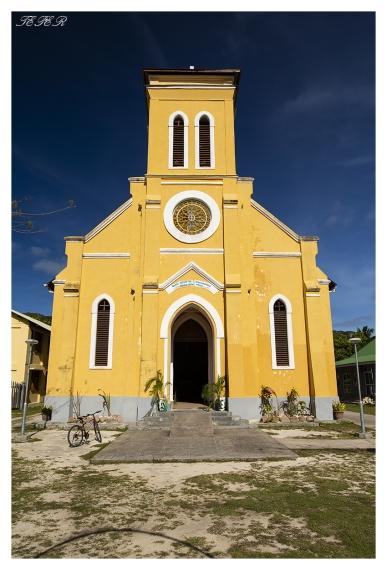 Local church, La Digue, Seychelles. 5D Mark III   24mm 1.4 Art