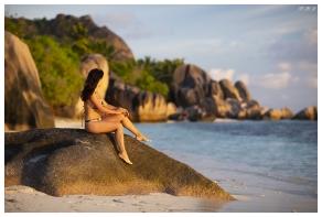 Paradise on La Digue, Seychelles. 5D Mark III   85mm 1.2L II
