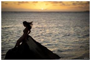 Sunset on La Digue, Seychelles. 5D Mark III   85mm 1.2L II