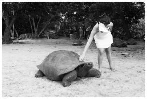 Greeting the elders on Curieuse, Seychelles. G7X