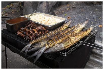 Now this is a proper lunch! Curieuse, Seychelles. G7X