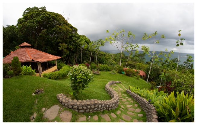 Cafe over looking Uvita, Costa Rica. 5D Mark III   12mm 2.8 Fish eye.