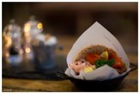Tasty fish burger, Lofoten Norway. Canon 5D Mark III | 85mm 1.2L II
